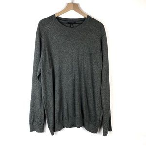 Banana Republic Silk Linen Gray Crew Neck Sweater